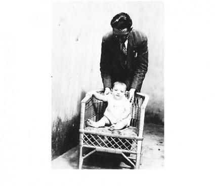 Plínio com o pai, em 1931.
